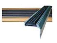Алюминиевый угол-порог с резиновой вставкой